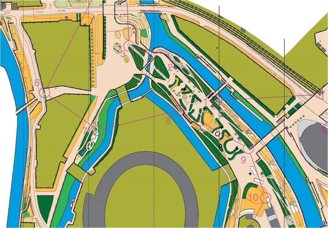 Example of an orienteering map